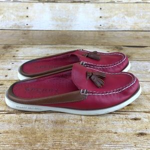 Sperry Top Sider Tassle Leather Mules